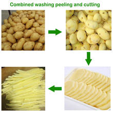 vegetable and fruit chips processing line/finger chips machine/potato french fries maker