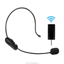 UHF Wireless Headset Microphone Receiver Set for Voice Amplifier or Karaoke Speaker