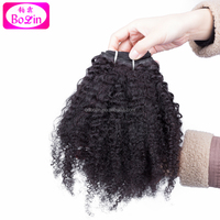 Mongolian afro kinky curly human hair for braiding human braiding hair Mongolian virgin hair extensions