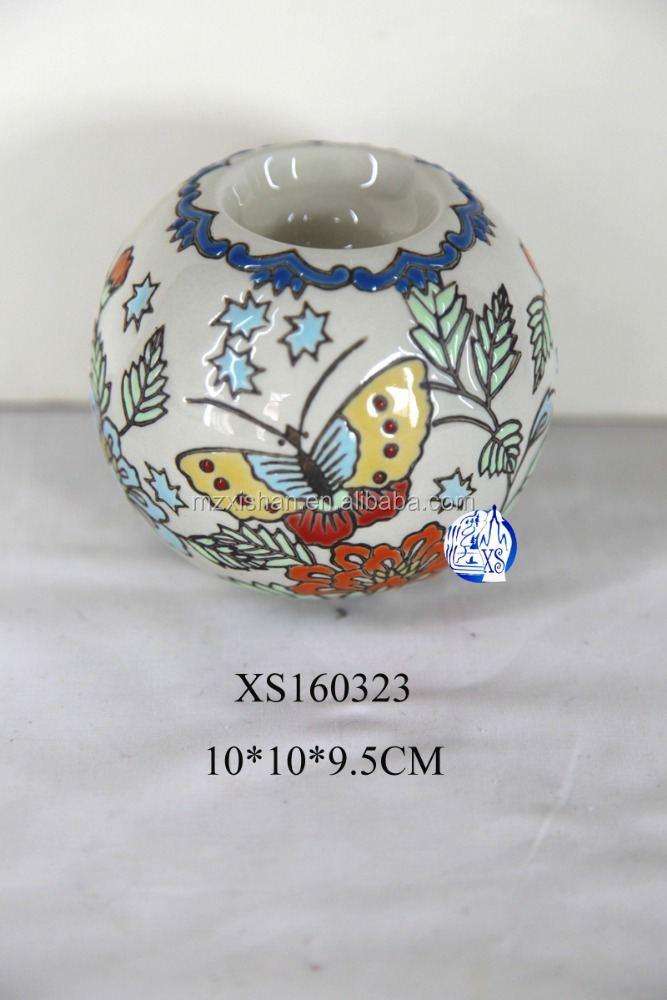 ceramic round decorative candle holder for event