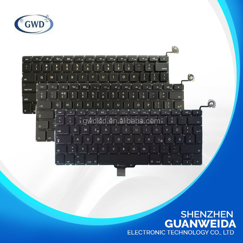 Laptop Keyboard for Macbook A1278 with Version US UK GERMAN CA RU Layout