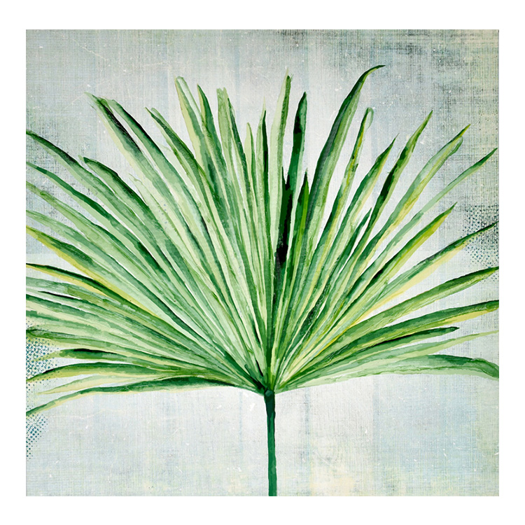 Wall Decor Minimalist Green Plants Palm Leaves Canvas Printed Oil Painting