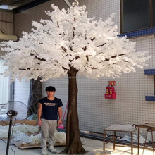 2017 wholesale wedding or party decorative artificial white cherry blossom tree wholesale