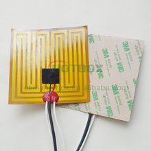 Kapton polyimide thin film heater 100*100mm surface with adhesive on a face 12V 90W with 400mm lead wire and 100k thermistor
