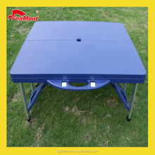 Plastic folding picnic dining table for outdoor restaurant snack bar