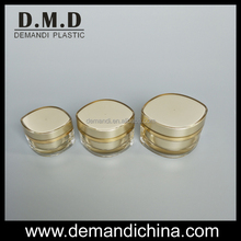 Empty round acrylic cream jar 5g 10g 15g 30g 50g gold cream jar