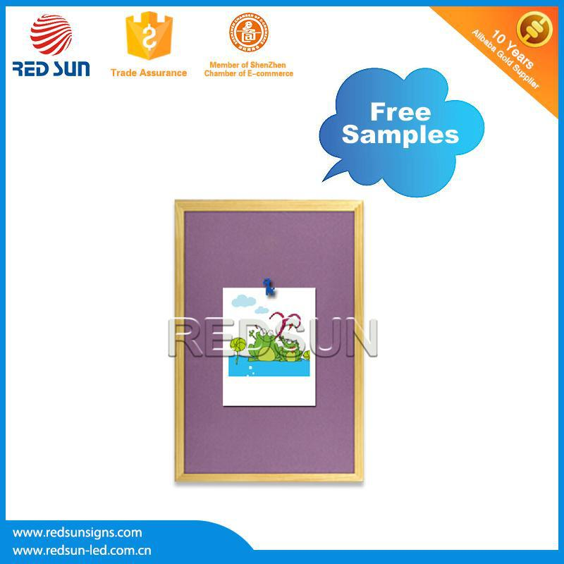 2015 factory best selling Wall mounting black cork board