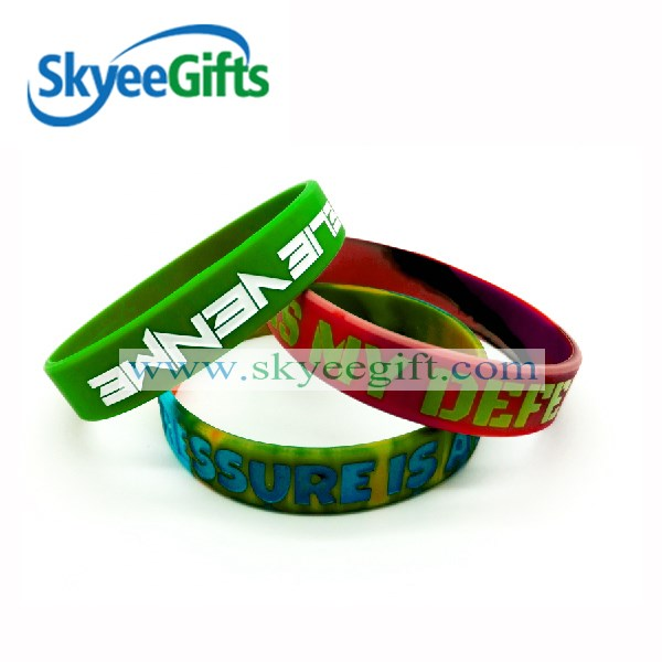 Sport silicone rubber snap on bracelet