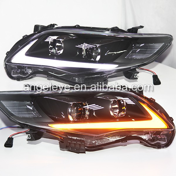 For Toyota Corolla Altis LED head lamp 2011-2013 year Black Housing YZ