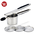 Best selling Stainless steel Good Grips Potato Ricer with silicone handle
