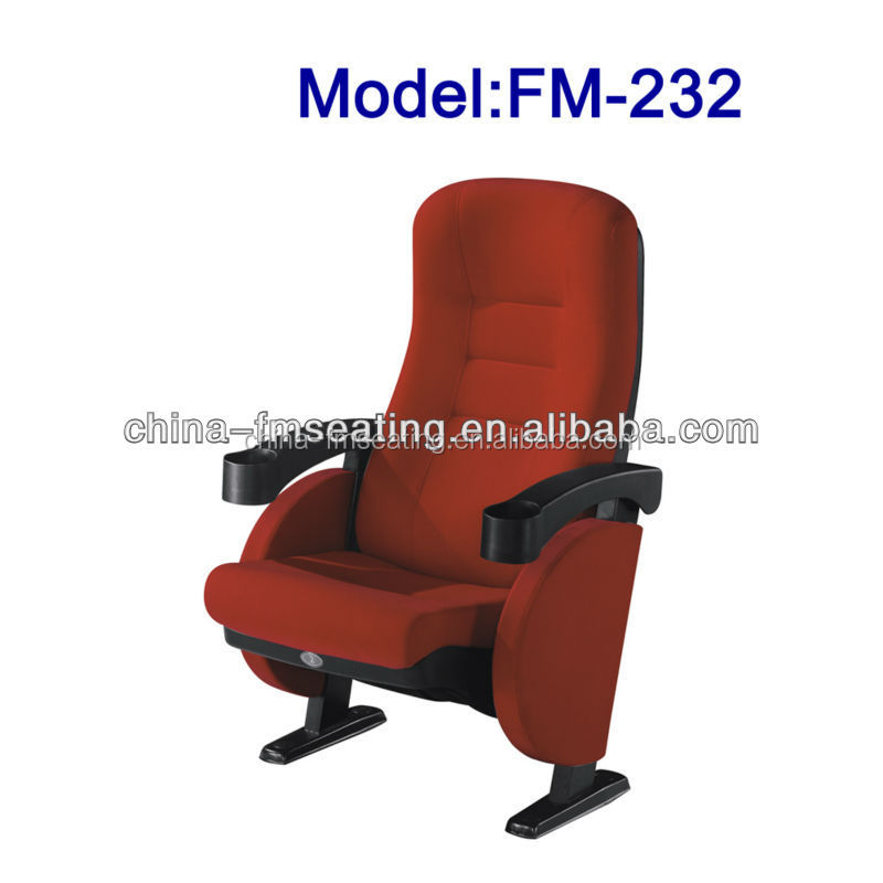 FM-232 Durable fabric cover home cinema seat with drink holder