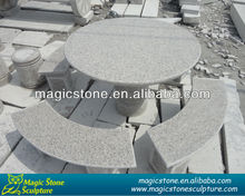 large stock garden stone round table top