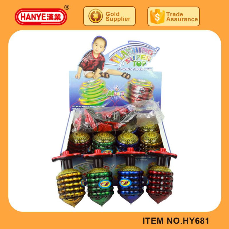 HY681 Chain Line Flashing Light Music Spinning Top Toy Series