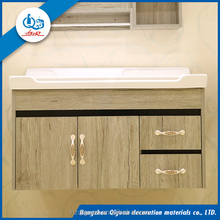 Public Tall Bathroom Cabinet with Granite Vanity Top school furniture