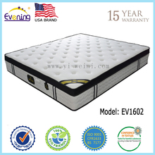 Comfortable foam mattress , hard 6 turns stainless steel spring mattress EV1602