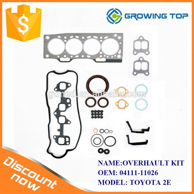 Excavator Engine Spare Parts OEM 04111-11026 Complete Engine Overhaul Kits for toyota 2E