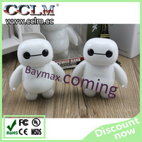 2015 most popular cute mini baymax power bank 10000mAh