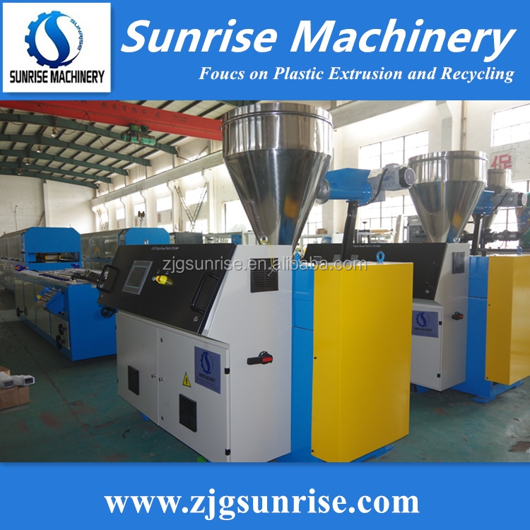 Sunrise Plastic PVC Window Ceiling Trunking Fence Profile Production Line