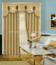 jacquard blackout curtain with fancy valance