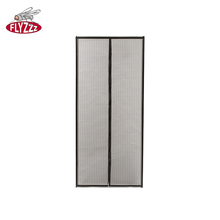 Flexible polyester hand free hanging mesh fly screen magnetic door curtain