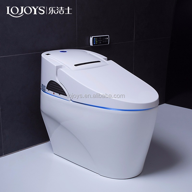 Lojoys product ceramic intelligent toilet automatic electronic one piece bathroom toilet