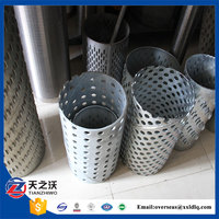 stainless steel perforated water well casing pipe (factory)