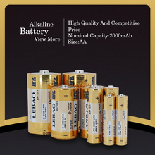 Lebao China Factory High Quality Zn/MnO2 AA Cells Enviromental Batteries Primary Battery