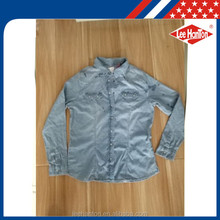 wholesale cheap long sleeve ladies denim blouse