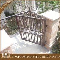 used wrought iron house gate / wrought iron ornaments / wrought iron gates models
