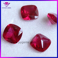 Cushion cut 3# 5# ruby low price of synthetic ruby gems loose ruby rough stone