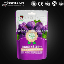wholesale food grade resealable plastic zipper bags for food