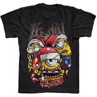 funny design t shirt of mens black t shirts with silk screen printed