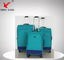 [Three Birds] hebei luggage with removable wheels for bags,lady bird school bag,top quality nylon luggage bag belt