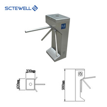 Competitive Price Access Control System Tripod Turnstile HS Code with RFID Card Reader