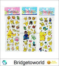 Cartoon Anime Pokemon Stickers for Kids Rooms Decor Diary Notebook Label Decoration Pikachu 3D Sticker