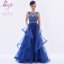 2017 new style beaded long prom dress ball gown