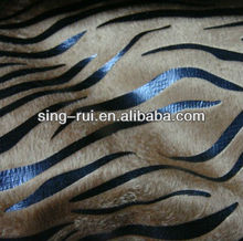 1.8mm PU Leather Horse Leather Zebra Patterns For Fleece Slippers (cuerina para calzado)