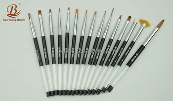 2014 Brilliant new nail art brush series -acrylic handle with diamond decoration nail art brush