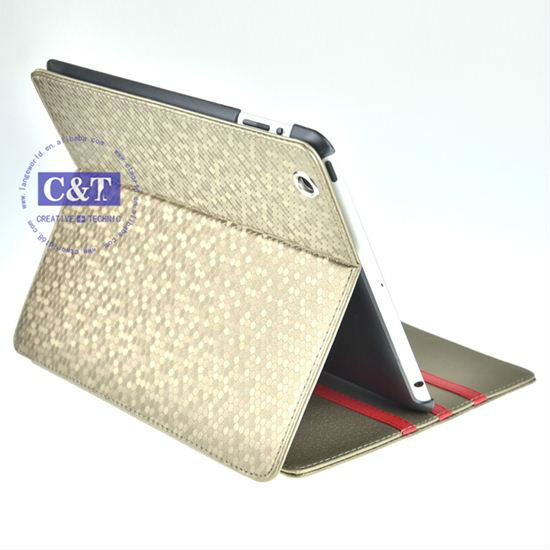PU Leather stand for ipad 3 tablet cover
