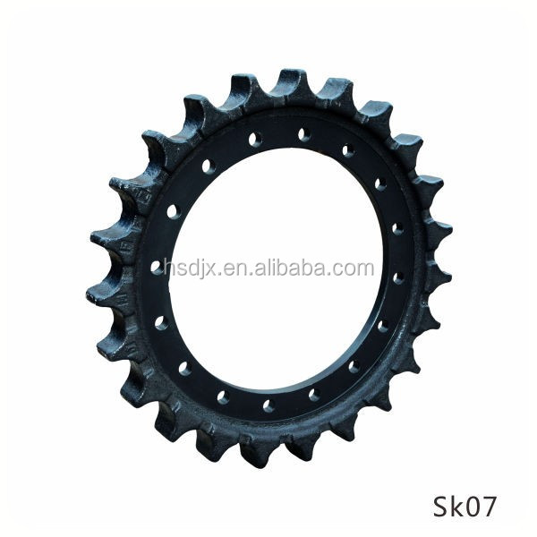 Kobelco excavator undercarriage parts drive chain sprocket wheel for SK07 sprocket for wholesale