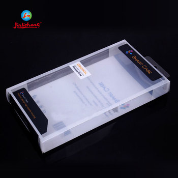 plastic printed flat clear gift folding box