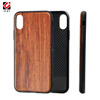 Plain Rock grain original luxury thin wood tpu case for iphone X, rosewood cover for Apple 10