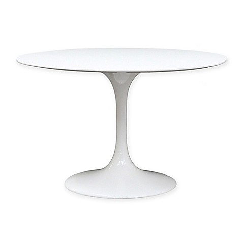 Modway Lippa Fiberglass 40-Inch RoundTulip Dining <strong>Table</strong> in White