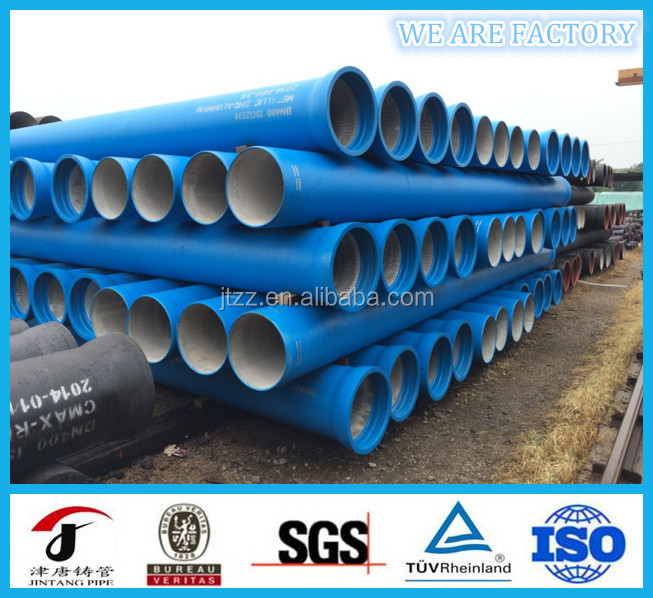 Ductile iron pipes accompanied with fittings