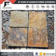 Thick paving slate material natural surface rusty color stone tile for floor