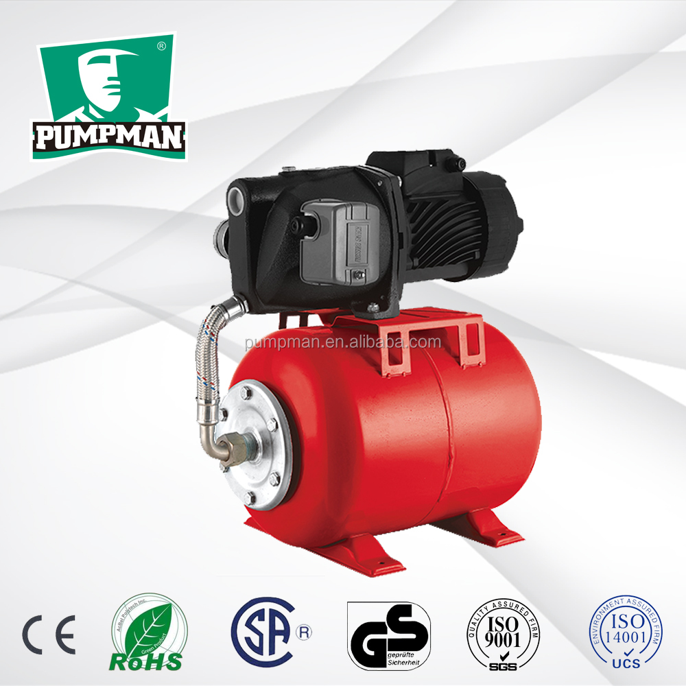 ATJET100 2015 PUMPMAN new high efficient low price brass impeller 1hp domestic use automatic electric jet 100 water pump
