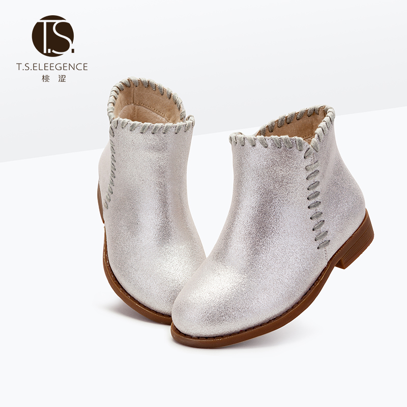 EU26-37 2016 New Look Children <strong>Boots</strong> Girls Kids infant Flat Snow <strong>Boots</strong> Genuine Leather fringe rivets Stud tassel Winter Shoes