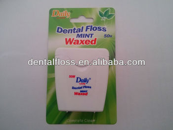 WAXED dental floss with mint