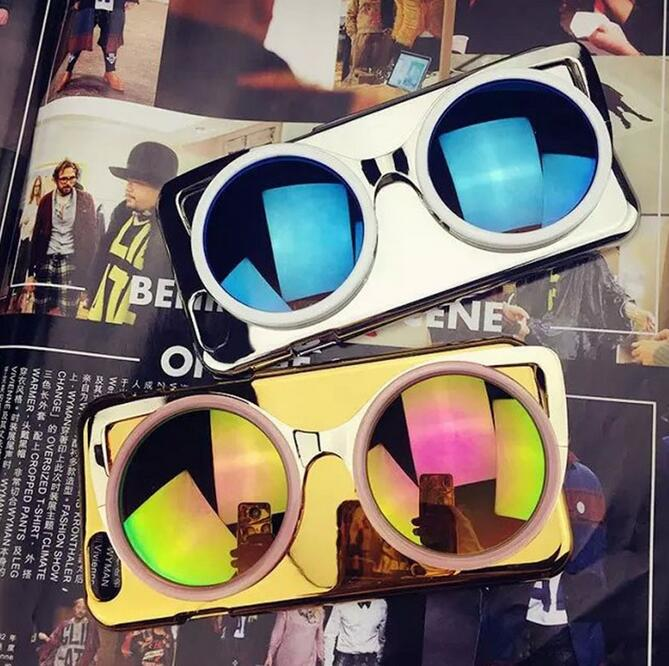 New Products 2016 Product 3D Sun Glasses Mobile Phone Case For Iphone 7