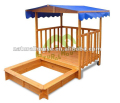 Brand new Wooden Backyard Sandbox, outdoor wooden sanpit